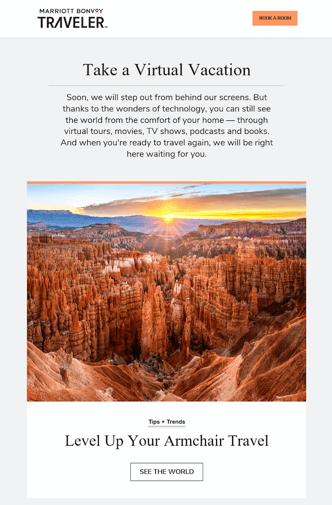 Marriott Bonvoy Interactive Email Marketing