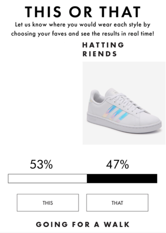 DSW Interactive Emails