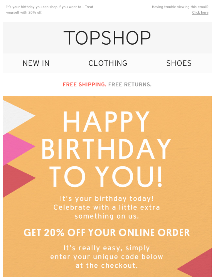 Engage loyal customers with personalized emails